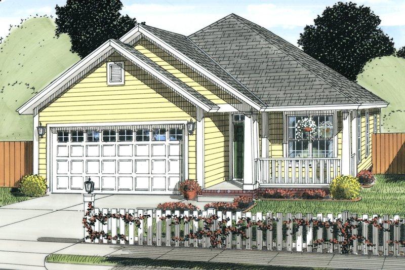 Dream House Plan - Cottage Exterior - Front Elevation Plan #513-2086