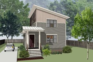 House Design - Modern Exterior - Front Elevation Plan #79-319