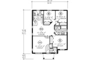 Traditional Style House Plan - 3 Beds 1 Baths 1086 Sq/Ft Plan #25-4231 Floor Plan - Main Floor Plan