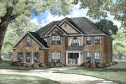 Traditional Style House Plan - 5 Beds 4 Baths 2942 Sq/Ft Plan #17-2072 Exterior - Front Elevation