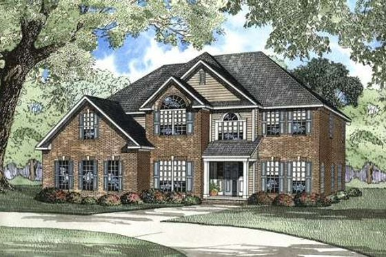 Traditional Exterior - Front Elevation Plan #17-2072