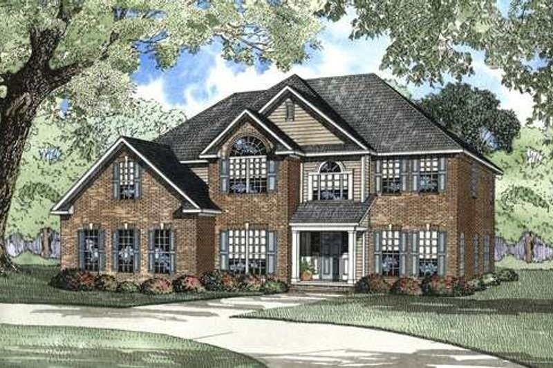 Traditional Style House Plan - 5 Beds 4 Baths 2942 Sq/Ft Plan #17-2072