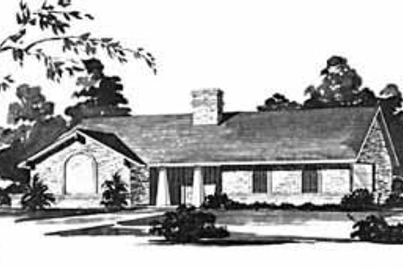 Ranch Exterior - Front Elevation Plan #36-383