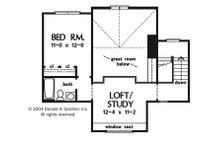 Craftsman Floor Plan - Upper Floor Plan Plan #929-943