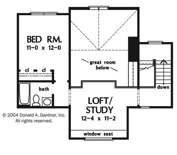 Craftsman Floor Plan - Upper Floor Plan Plan #929-943