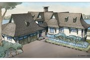 Craftsman Style House Plan - 6 Beds 4.5 Baths 3877 Sq/Ft Plan #928-252 Exterior - Front Elevation