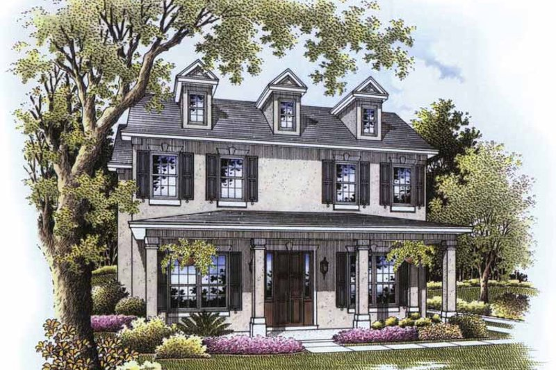 Country Exterior - Front Elevation Plan #999-172