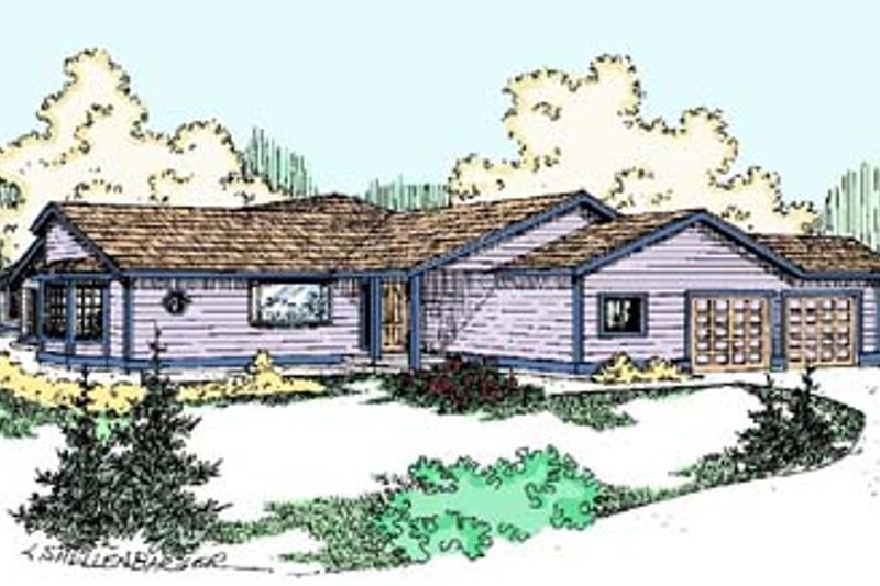 Ranch Exterior - Front Elevation Plan #60-506
