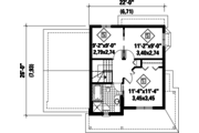 Country Style House Plan - 3 Beds 1 Baths 1114 Sq/Ft Plan #25-4500 Floor Plan - Upper Floor Plan