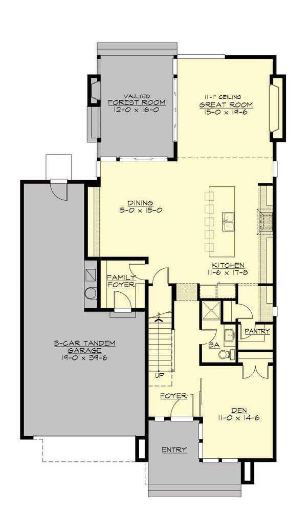 Modern Floor Plan - Main Floor Plan Plan #132-225