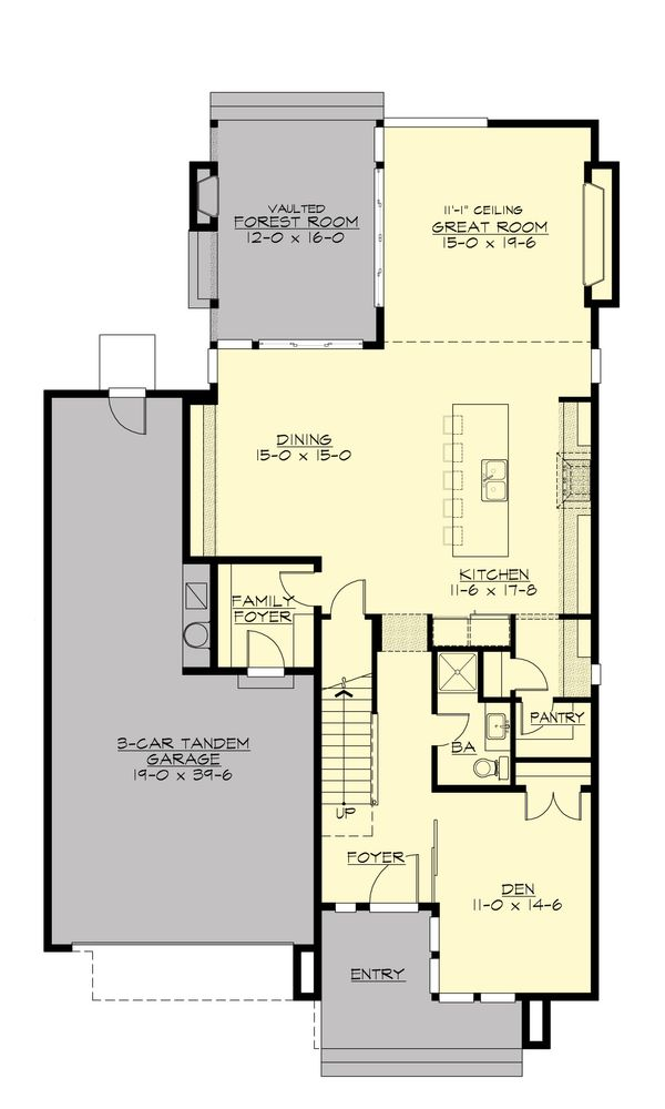 Modern Floor Plan - Main Floor Plan Plan #132-225