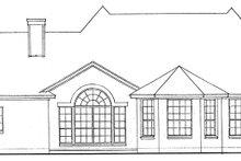 Country Exterior - Rear Elevation Plan #974-43