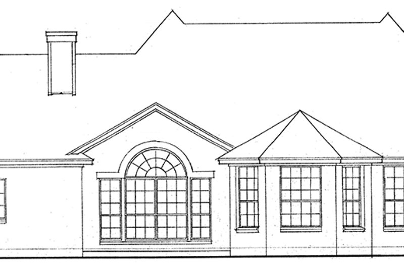 Country Exterior - Rear Elevation Plan #974-43 - Houseplans.com