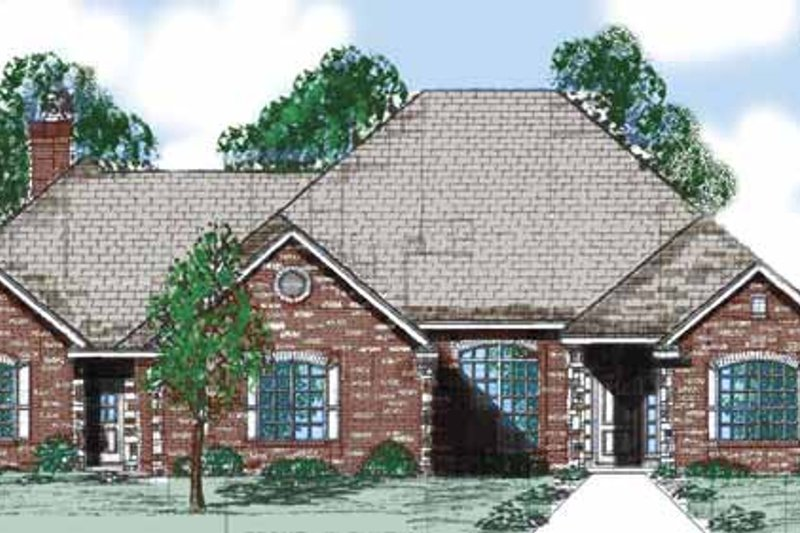 Traditional Exterior - Front Elevation Plan #52-284