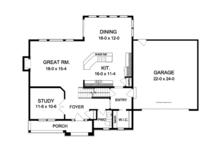 Colonial Floor Plan - Main Floor Plan Plan #1010-83