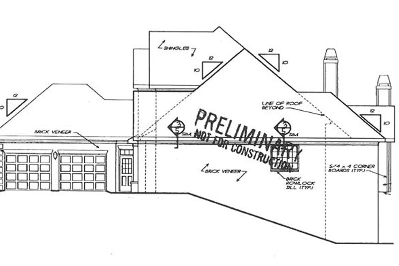 Traditional Exterior - Other Elevation Plan #927-792 - Houseplans.com