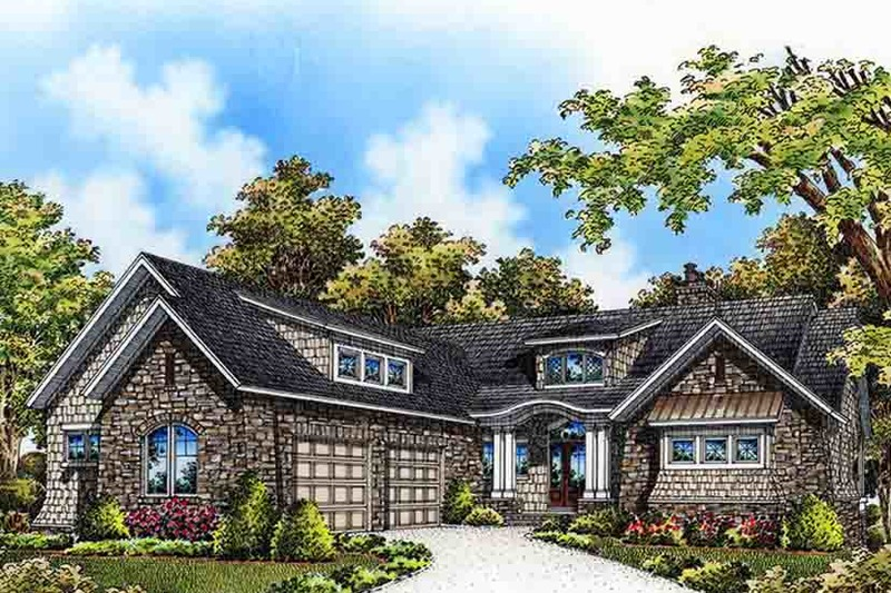 European Exterior - Front Elevation Plan #929-975 - Houseplans.com
