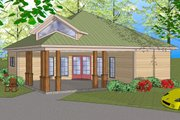 Southern Style House Plan - 3 Beds 1.5 Baths 1087 Sq/Ft Plan #8-308 Exterior - Front Elevation