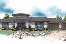 Prairie Exterior - Front Elevation Plan #509-386