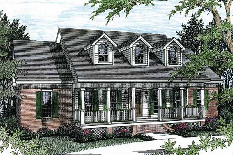 Country Exterior - Front Elevation Plan #44-201 - Houseplans.com