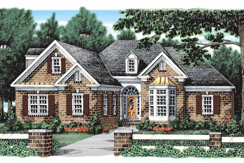 Traditional Exterior - Front Elevation Plan #927-921 - Houseplans.com