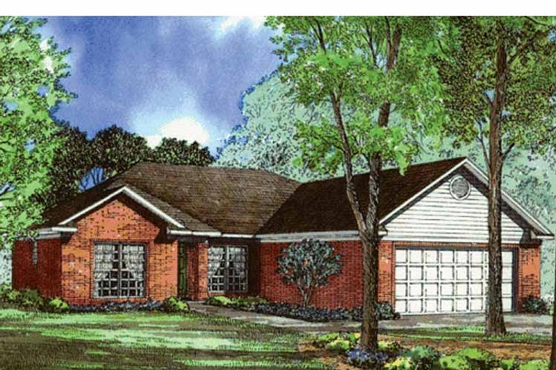 Ranch Exterior - Front Elevation Plan #17-3261 - Houseplans.com