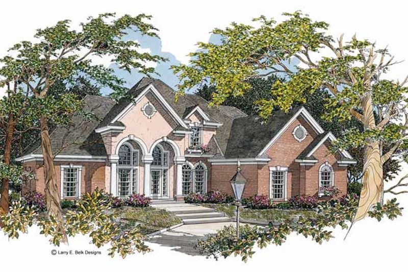 Dream House Plan - Mediterranean Exterior - Front Elevation Plan #952-44