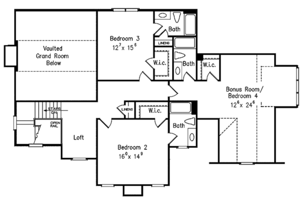 Country Floor Plan - Upper Floor Plan Plan #927-479