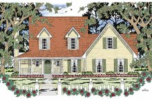 Country Exterior - Front Elevation Plan #42-597