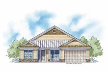 Country Exterior - Front Elevation Plan #938-1