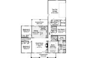 Traditional Style House Plan - 3 Beds 2.5 Baths 1888 Sq/Ft Plan #21-430 Floor Plan - Main Floor