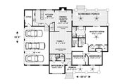 Craftsman Style House Plan - 4 Beds 3 Baths 2099 Sq/Ft Plan #56-711 Floor Plan - Main Floor Plan