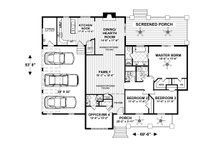Craftsman Floor Plan - Main Floor Plan Plan #56-711