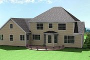 Traditional Style House Plan - 5 Beds 4 Baths 3547 Sq/Ft Plan #75-106 Exterior - Rear Elevation