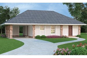 House Plan Design - European Exterior - Front Elevation Plan #45-560