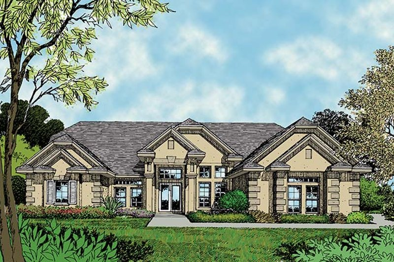 Mediterranean Exterior - Front Elevation Plan #417-511
