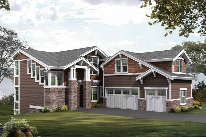Craftsman Exterior - Front Elevation Plan #132-478