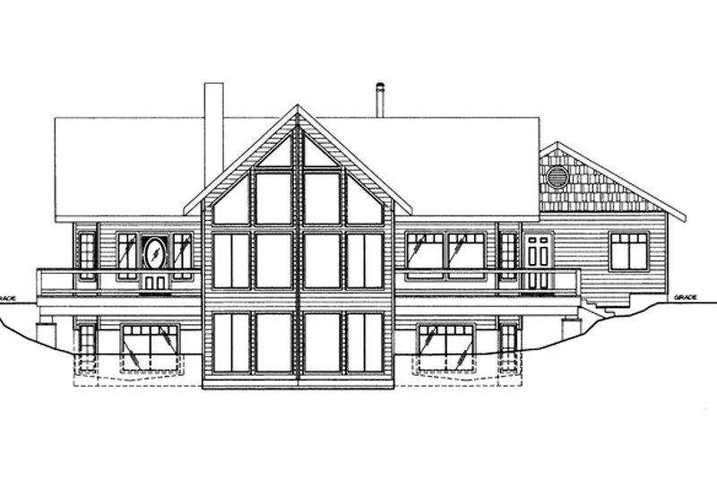 Ranch Exterior - Rear Elevation Plan #117-838 - Houseplans.com