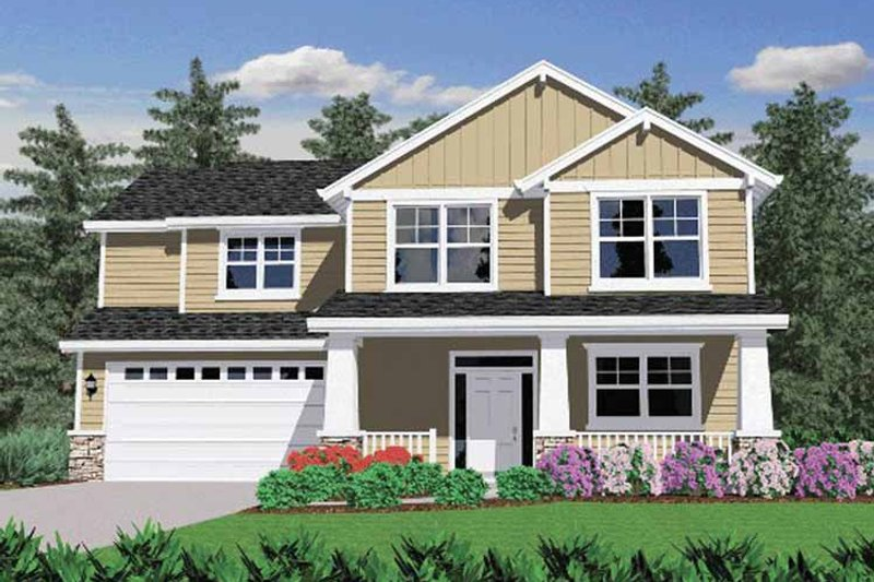 Prairie Exterior - Front Elevation Plan #509-242