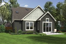 House Plan Design - Craftsman Exterior - Rear Elevation Plan #48-924