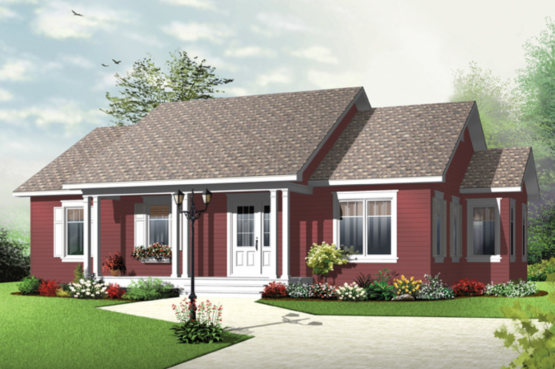 Country Exterior - Front Elevation Plan #23-2569 - Houseplans.com