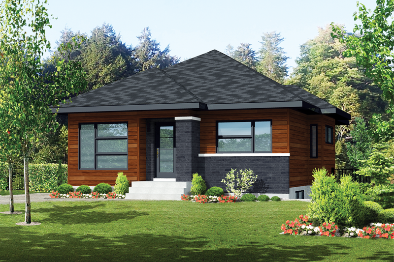 Home Plan - Contemporary Exterior - Front Elevation Plan #25-4292
