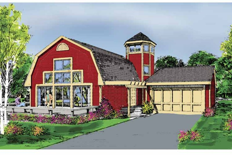Country Exterior - Front Elevation Plan #456-86 - Houseplans.com