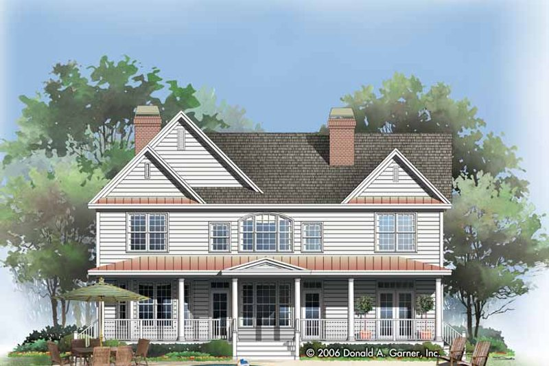 Traditional Exterior - Rear Elevation Plan #929-787 - Houseplans.com
