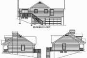 Cottage Style House Plan - 3 Beds 2 Baths 1140 Sq/Ft Plan #57-151 Exterior - Rear Elevation
