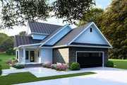 Farmhouse Style House Plan - 4 Beds 2.5 Baths 2268 Sq/Ft Plan #923-103 Exterior - Rear Elevation