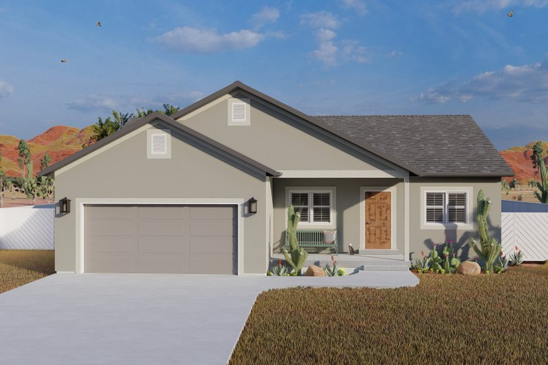 House Plan Design - Traditional Exterior - Front Elevation Plan #1060-103