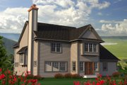 European Style House Plan - 5 Beds 4 Baths 3103 Sq/Ft Plan #70-1181 Exterior - Rear Elevation