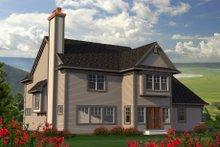 Dream House Plan - European Exterior - Rear Elevation Plan #70-1181