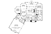 Traditional Style House Plan - 4 Beds 4 Baths 2607 Sq/Ft Plan #929-980 Floor Plan - Main Floor Plan
